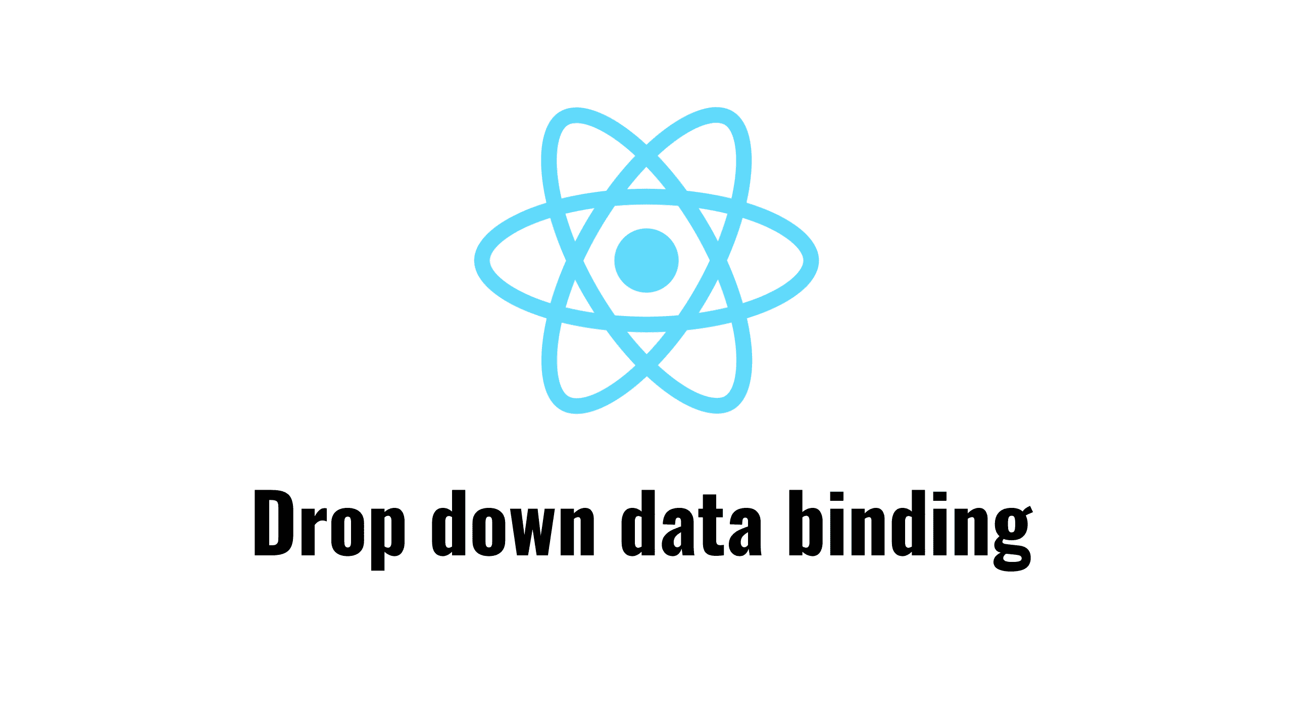 Dropdown data binding with React hooks   Building SPAs